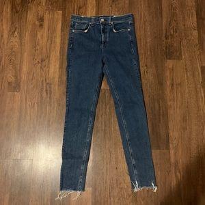 Rag & Bone High-Rise Ankle Skinny Jeans Size 29